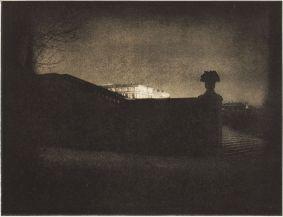 Edward Steichen, Nocturne, Orangerie Staircase, Versailles, 1913