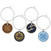 Ancient symbols mixed set wine charms
