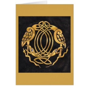 Celtic Knot with Birds card