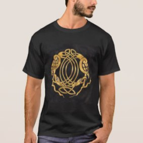 Celtic Knot with Birds T-Shirt by Nebankh