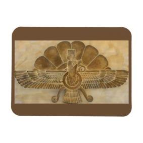 Faravahar Symbol Fridge Magnet by Nebankh