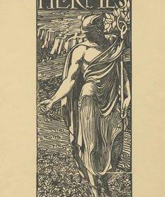 Adolfo De Carolis (1874-1928). Hermes. 1904
