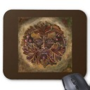 Green Man Mouse Mat