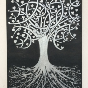 Tree of Life with Hearts and Moons